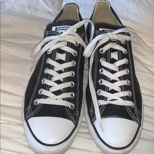 Black and White Converse Sneakers Size 10